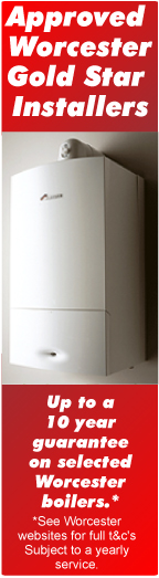 Approved Worchester Gold Star Installers: All worchester boilers come with a 10 year guarentee